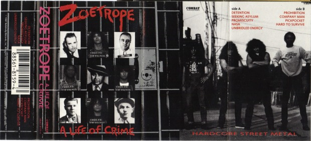 Zoetrope, A Life of Crime, cassette cover
